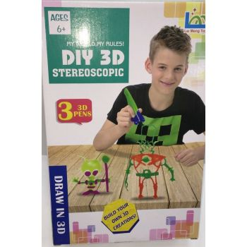 Набор 3D ручек DIY 3D stereoscopic (3 цвета) оптом