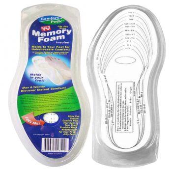Стельки для обуви с памятью Memory Foam Insoles оптом