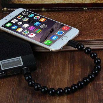 USB кабель для зарядки в виде браслета (шарики) оптом